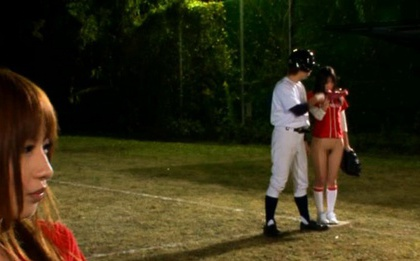 Baseball Team Gender Battle With Half-Naked Chicks