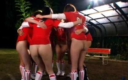 Baseball Team Gender Battle With Half-Naked Chicks