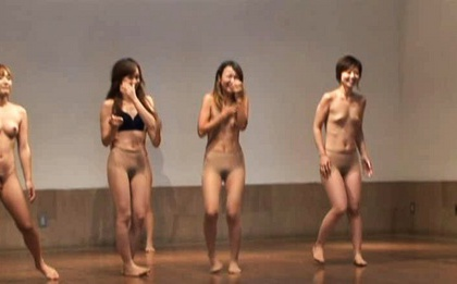 Japanese Girls Play Games While Stripping Naked